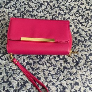 💕Pink Wristlet Wallet Purse - 2 Zippered Sections